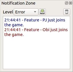 Notification zone